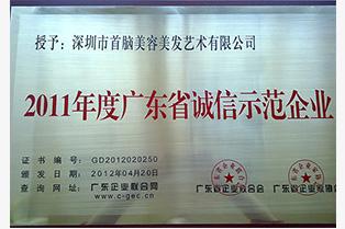 2011广东省诚信示范企业