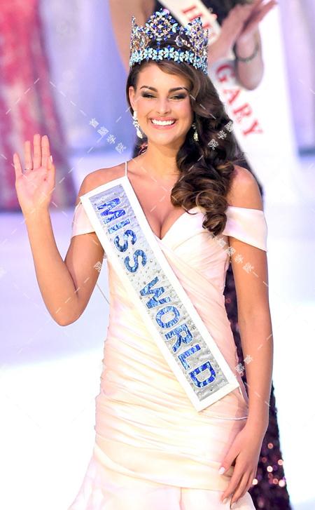 2014世界小姐冠军造型