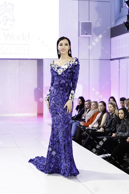 杜旸在世界小姐大赛中的造型
