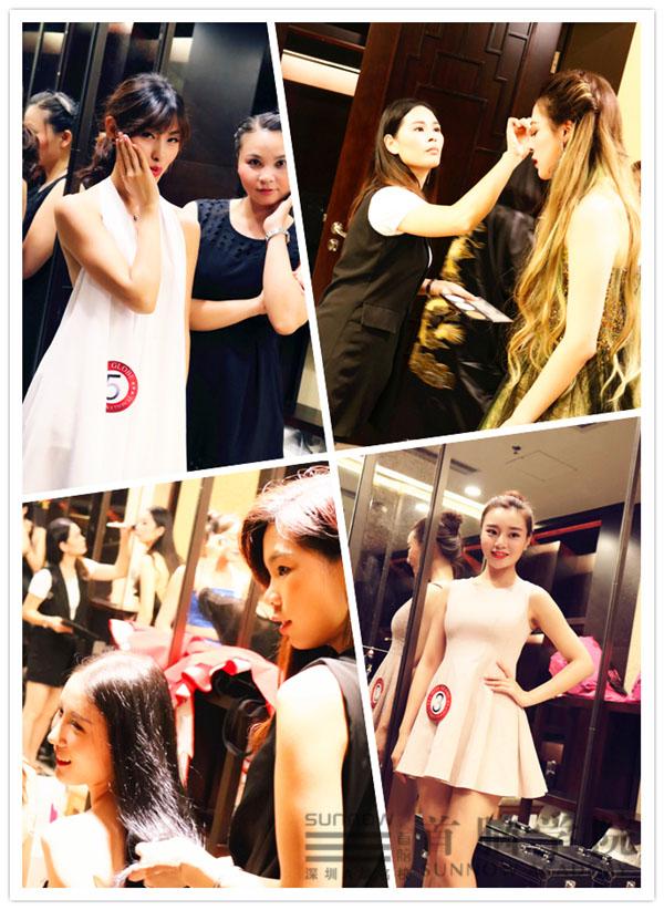 环球国际小姐大赛化妆造型现场