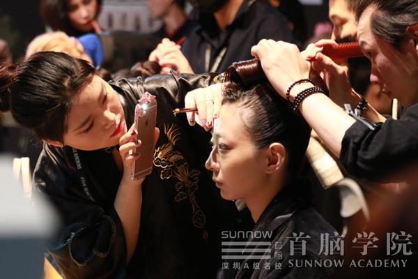 首脑学院为深圳时装周模特化妆造型