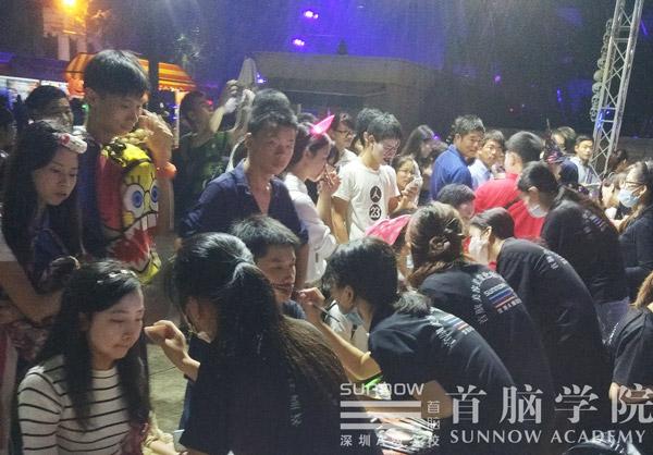 深圳首脑化妆培训学校携手世界之窗万圣节活动