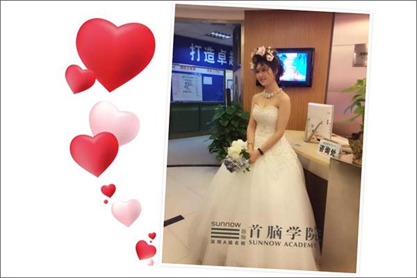 首脑学院新娘造型展示前沿时尚风采