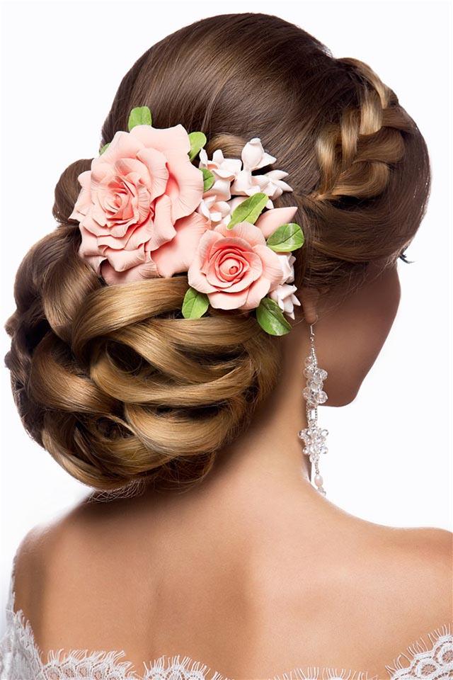 新娘盘发化妆